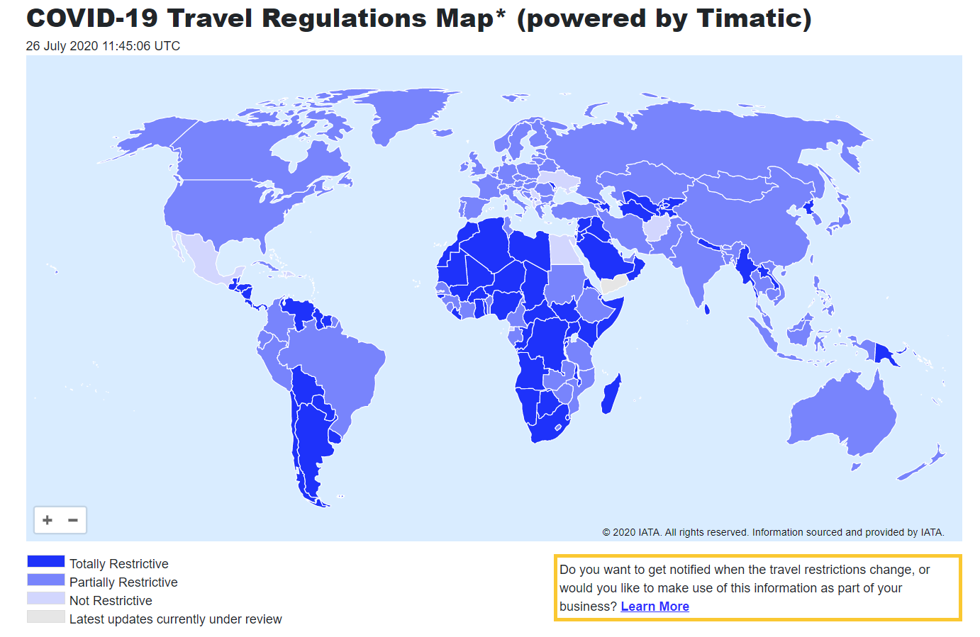 A Handy Tool To Keep Track Of International Travel Restrictions - Wander Up Front